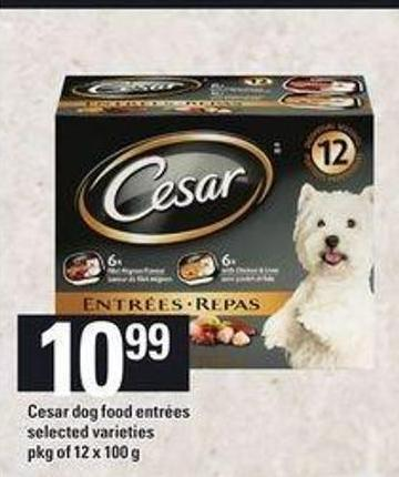 Cesar Dog Food Entrées - Pkg of 12 X 100 g