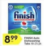 Finish Auto Dishwashing Tabs 18-25 Pk