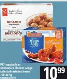 PC Meatballs Or Schneiders Chicken Wings - 750-907 g