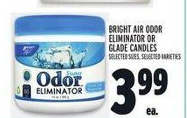 Bright Air Odor Eliminator Or Glade Candles
