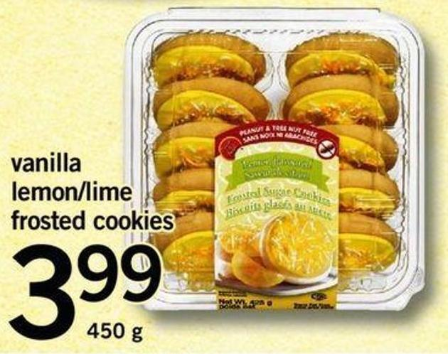 Vanilla Lemon/lime Frosted Cookies - 450 G