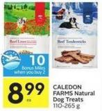 Caledon Farms Natural Dog Treats 110-265 g - 10 Air Miles Bonus Miles