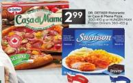 Dr. Oetker Ristorante or Casa Di Mama Pizza 300-410 g or Hungry-man Frozen Dinners 360-455 g