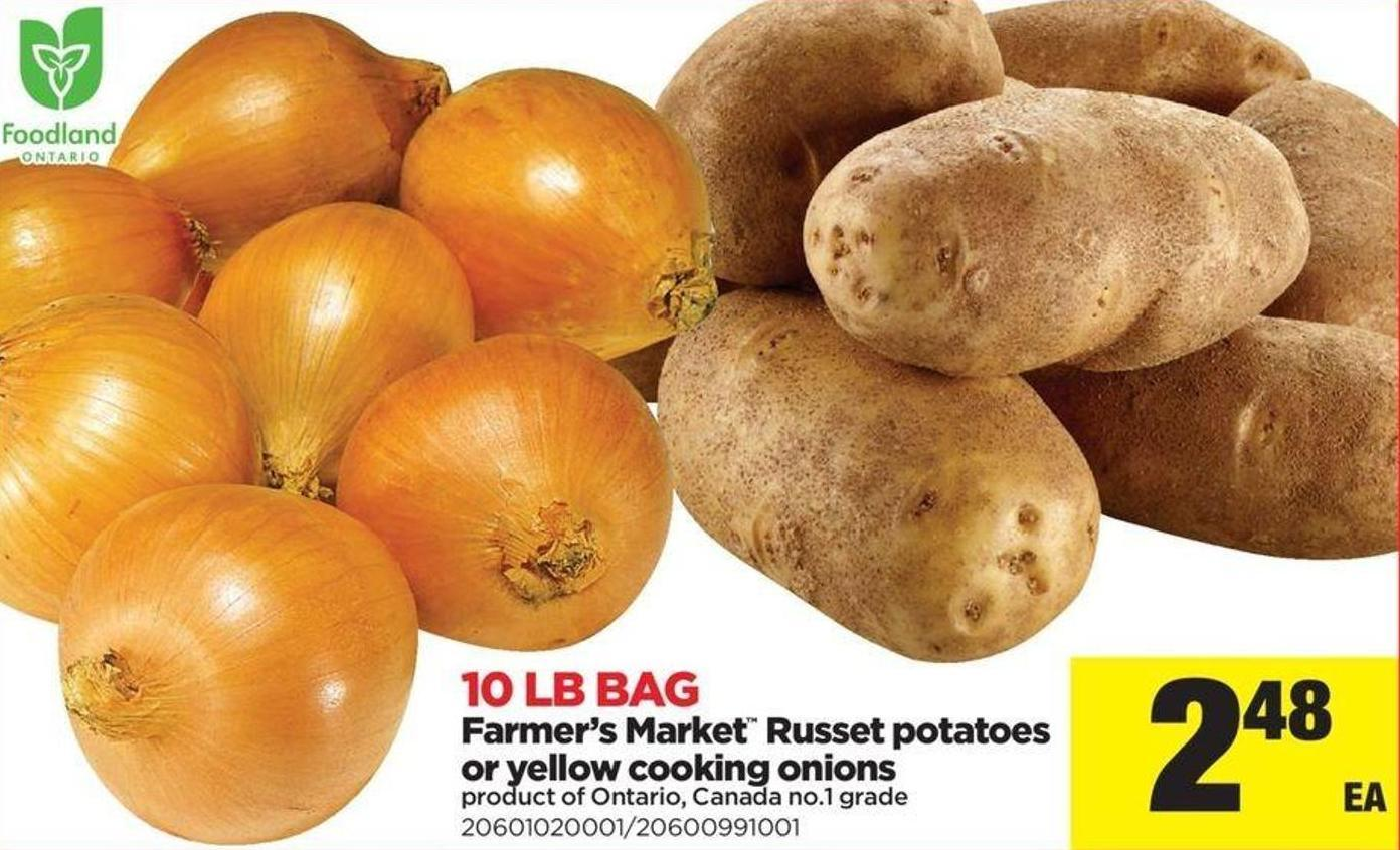 Farmer's Market Russet Potatoes Or Yellow Cooking Onions - 10 Lb Bag