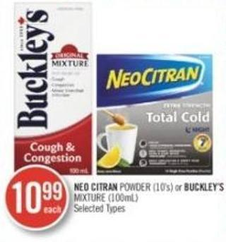 Neo Citran Powder (10's) or Buckley's Mixture (100ml)