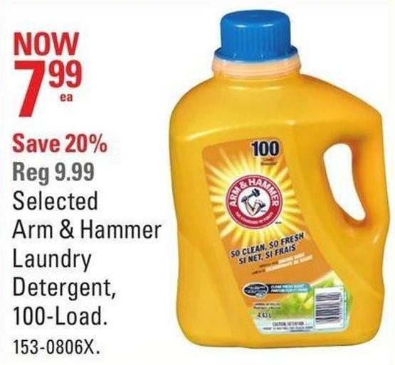 Selected Arm & Hammer Laundry Detergent - 100-load