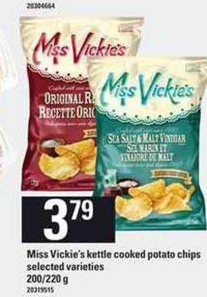 Miss Vickie's Kettle Cooked Potato Chips - 200/220 g