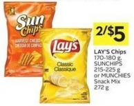 Lay's Chips 170-180 g - Sunchips 215-225 g or Munchies Snack Mix 272 g