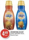 International Delight Coffee Whitener