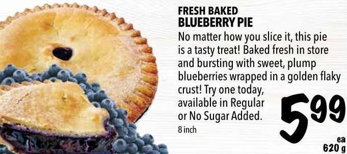 Fresh Baked Blueberry Pie 620 g