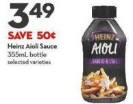 Heinz Aioli  Sauce 355ml Bottle