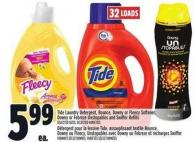 Tide Laundry Detergent - Bounce - Downy Or Fleecy Softener - Downy Or Febreze Unstopables And Swiffer Refills