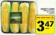 Sweet Corn Product of U.S.A. No. 1 Grade