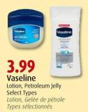 Vaseline Lotion - Petroleum Jelly Select Types