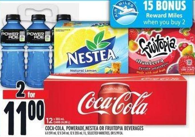 Coca‑cola - Powerade.nestea Or Fruitopia Beverages