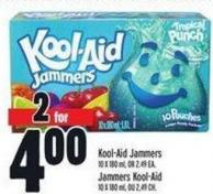 Kool-aid Jammers 10 X 180 ml - Or 2.49 Ea.