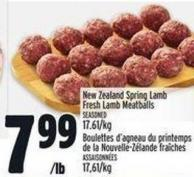 New Zealand Spring Lamb Fresh Lamb Meatballs