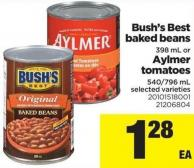 Bush's Best Baked Beans - 398 mL Or Aylmer Tomatoes - 540/796 mL