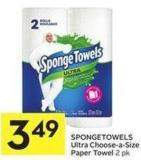 Spongetowels Ultra Choose-a-size Paper Towel 2 Pk