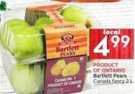 Bartlett Pears Canada Fancy 2 L