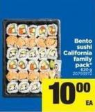 Bento Sushi California Family Pack - 620 G