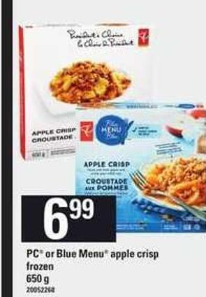 PC Or Blue Menu Apple Crisp.650 g
