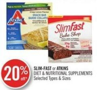 Slim-fast or Atkins Diet & Nutritional Supplements