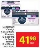 Good Start Omega Concentrate Formula 12 X 359 mL or Ready To Feed 16 X 250 mL