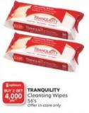 Tranquility Cleansing Wipes 56's