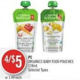 PC Organics Baby Food Pouches 128ml