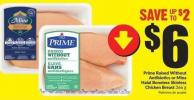 Prime Raised Without Antibiotics or Mina Halal Boneless Skinless Chicken Breast 366 g