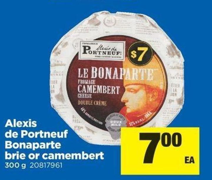 Alexis De Portneuf Bonaparte Brie Or Camembert - 300 G