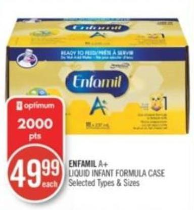 Enfamil A+ Liquid Infant Formula Case