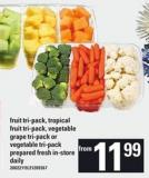 Fruit Tri-pack - Tropical Fruit Tri-pack - Vegetable Grape Tri-pack Or Vegetable Tri-pack
