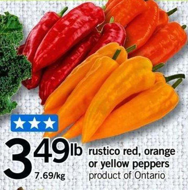 Rustico Red - Orange Or Yellow Peppers