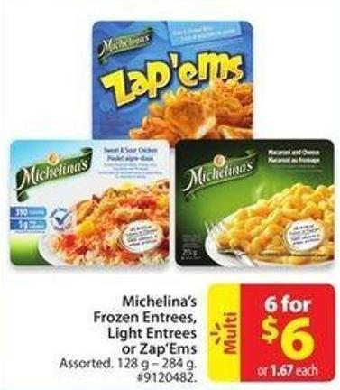 Michelina's Frozen Entrees - Light Entrees or Zap'ems