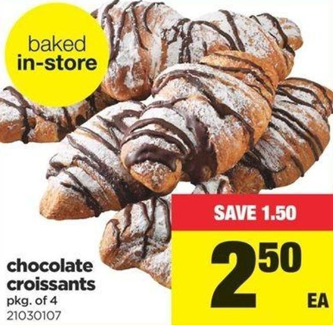 Chocolate Croissants - Pkg of 4