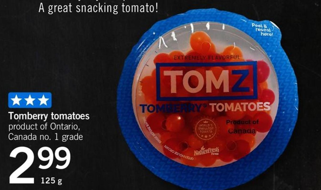 Tomz Tomberry Tomatoes - 125 G