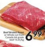Beef Brisket Roast or Whole Cut From Canada Aa Grade Beef