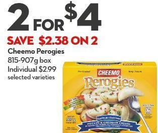 Cheemo Perogies 815-907g Box