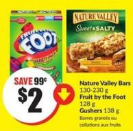Nature Valley Bars 130-230 g Fruit By The Foot 128 g Gushers 138 g