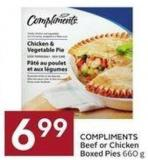 Compliments Beef or Chicken Boxed Pies 660 g