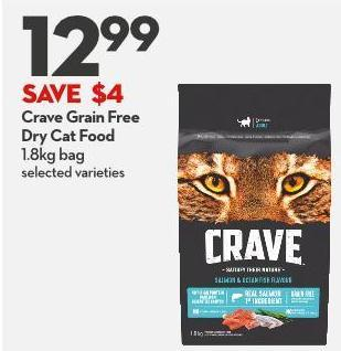 Crave Grain Free Dry Cat Food 1.8kg Bag