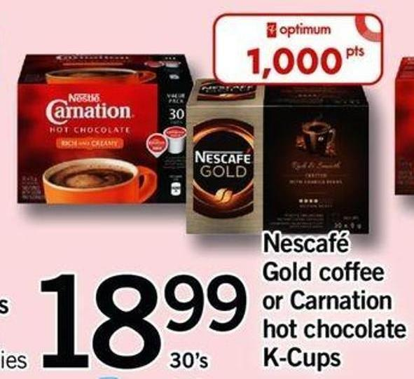 Nescafé Gold Coffee Or Carnation Hot Chocolate K-cups