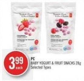 PC Baby Yogurt & Fruit Snacks 28g