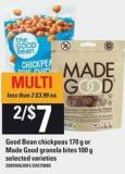 Good Bean Chickpeas - 170 G Or Made Good Granola Bites - 100 G