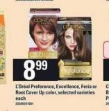 L'oréal Preference - Excellence - Feria Or Root Cover Up Color