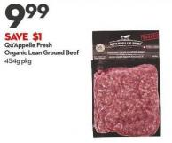 Qu'appelle Fresh Organic  Lean Ground Beef 454g
