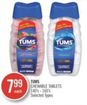 Tums Chewable Tablets 140's-160's