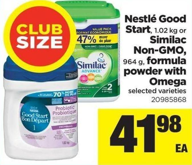 Nestlé Good Start 1.02 Kg Or Similac Non-gmo 964 G Formula Powder With Omega